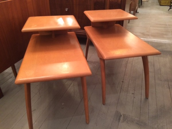 Vintage Heywood Wakefield Step End Tables M 908 G (1954 55)