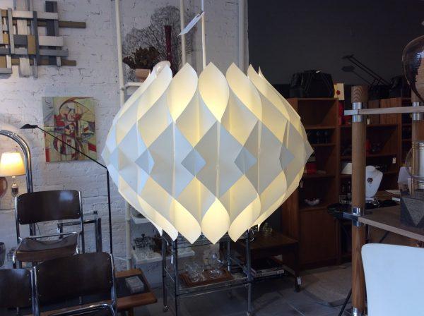 MidCentury Le Klint Honeycomb Pendant Light trash treasures