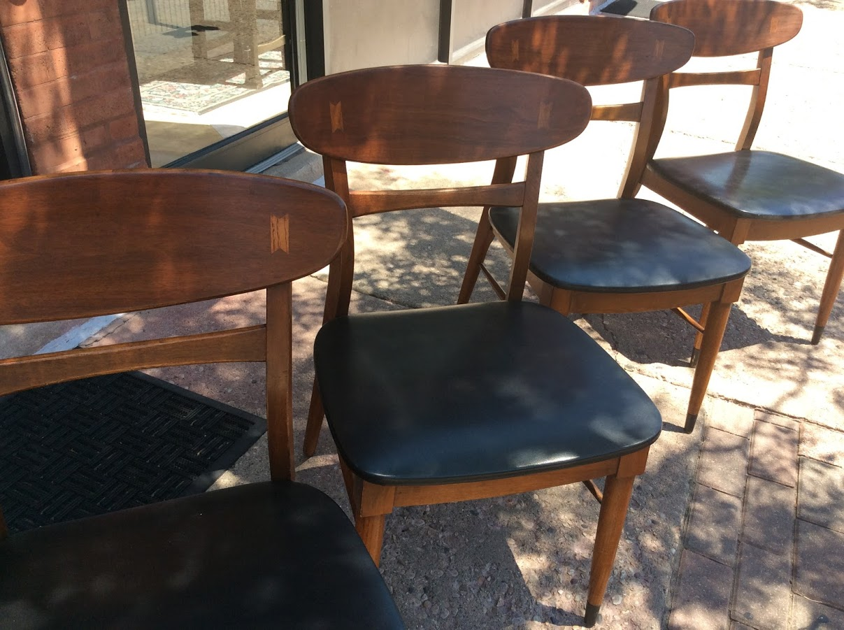 Terrific Mid Century Modern Lane Company Acclaim Series Dining Chairs Short Links Chair Design For Home Short Linksinfo