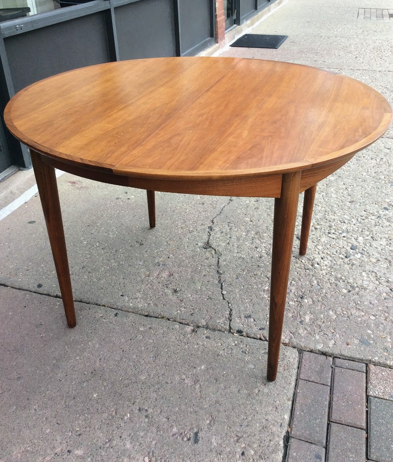 Mid Century Modern Round Extendable Dining Table Sold Modern Vibe