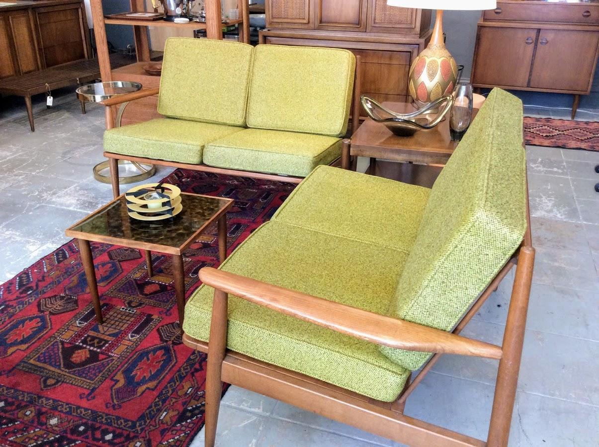 Mid Century Modern 2 Piece Sectional Sofa Modernvibe