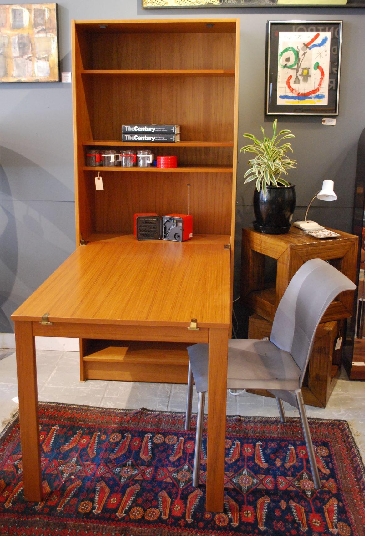 Domino Mobler Danish Teak Bookshelf Desk Sold Modern Vibe